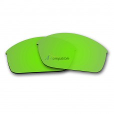 Replacement Polarized Lenses for Oakley Flak Jacket (Emerald Green Mirror)