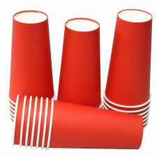 Hot Party Paper Cups, 20 Ounce, Multiple Colors (25 Count, Red)
