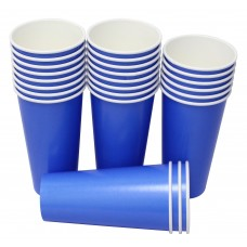 Hot Party Paper Cups, 20 Ounce, Multiple Colors (25 Count, Blue)
