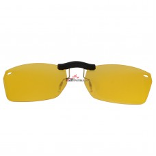 Custom Polarized Clip On Sunglasses For RayBan RB5255 (RX5255) 51-16-135 51x16 (Yellow) - Night Vision