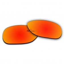 Polarized Sunglasses Replacement Lens For Ray-Ban JUSTIN (54mm) RB4165 (Fire Red Coating)