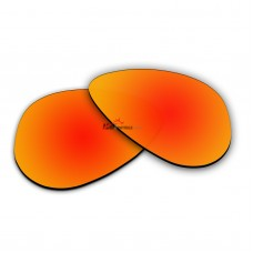 Polarized Sunglasses Replacement Lens For RayBan Aviator Small RB3044 (52mm) (Fire Red Coating)