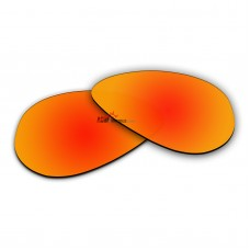 Polarized Sunglasses Replacement Lens For Ray-Ban Aviator RB3026 (62mm) (Fire Red Coating)