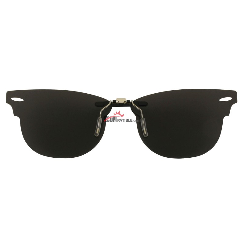 613a94d3a3 ... Custom Polarized Clip on Sunglasses For RayBan CLUBMASTER RB5154 49x21  5154 (Silver Coating) ...