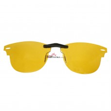 Custom Polarized Clip on Sunglasses For RayBan CLUBMASTER RB5154 49x21 (Yellow) - Night Vision