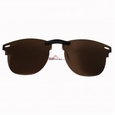 Custom Polarized Clip on Sunglasses For RayBan CLUBMASTER RB3016 (RX3016) 51x21 (Bronze Brown)