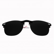 Custom Polarized Clip on Sunglasses For RayBan CLUBMASTER RB3016 (RX3016) 51x21 (Black Color Lenses)