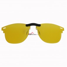 Custom Polarized Clip on Sunglasses For RayBan CLUBMASTER RB3016 (RX3016) 51x21 (Yellow) - Night Vision