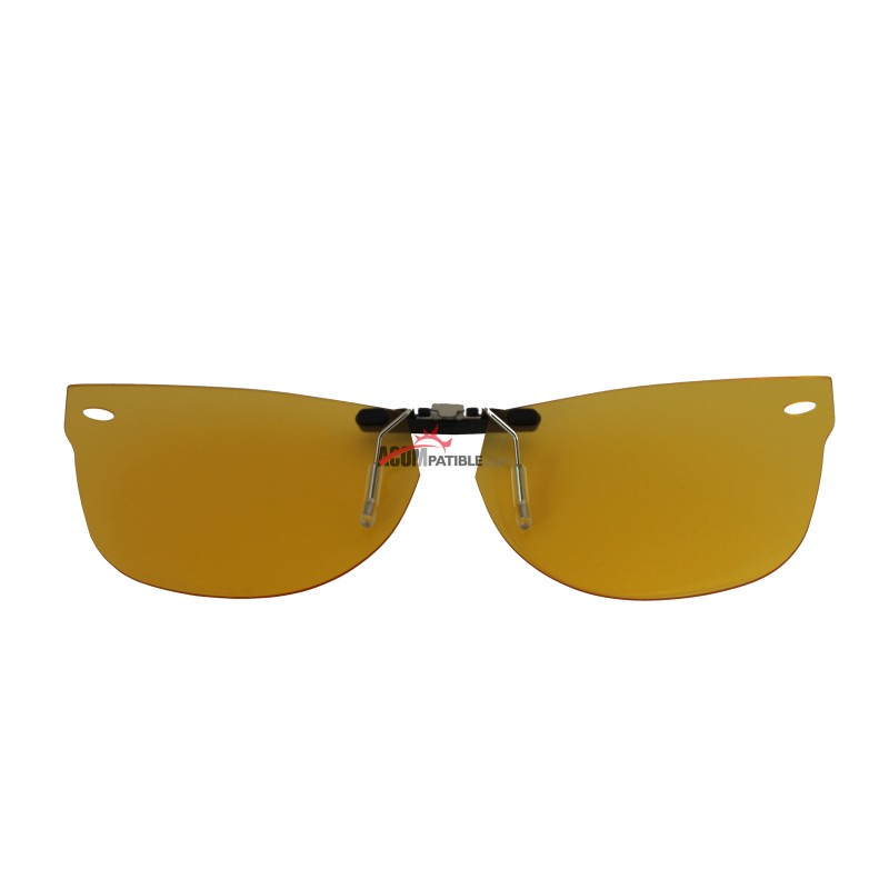 10f5635e3f782 ... Custom Polarized Clip on Sunglasses For RayBan NEW WAYFARER RB5184  (RX5184) 50x18 (Yellow