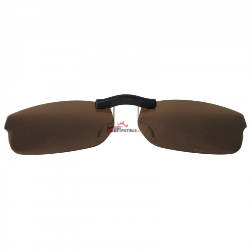 Custom Polarized  Clip On Sunglasses For RayBan RB5187 (RX5187) 52x16 (Bronze Brown)