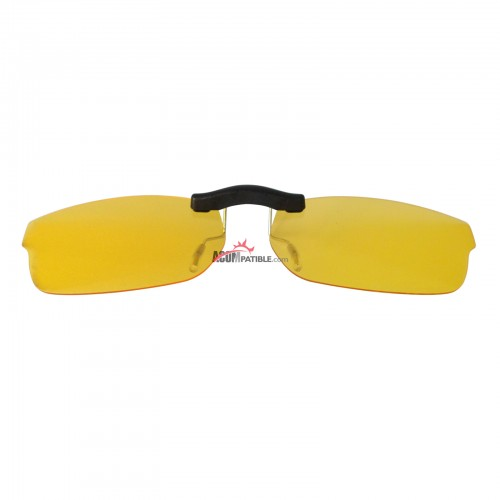 Custom Polarized  Clip On Sunglasses For RayBan RB5187 (RX5187) 52x16 (Yellow) - Night Vision