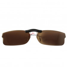 Custom Polarized Clip on Sunglasses For RayBan RB5187 (RX5187) 50x16 (Bronze Brown)