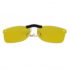 Custom Polarized Clip On Sunglasses For RAYBAN RB5228 (RX5228) 50-17-140 50x17 (Yellow) - Night Vision