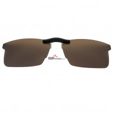 Custom Polarized Clip On Sunglasses For RayBan RB8411 (RX8411) 54-17-140  54x17 (Bronze Brown)