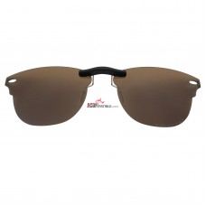 Custom Polarized Clip on Sunglasses For RayBan CLUBMASTER RB5154 (RX5154) 51x21 (Bronze Brown)