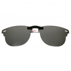 Custom Polarized Clip on Sunglasses For RayBan CLUBMASTER  RB5154 (RX5154) 51-21-145 (Silver Coating)