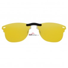 Custom Polarized Clip on Sunglasses For RayBan CLUBMASTER RB5154 (RX5154) 51x21 (Amber Yellow Color)