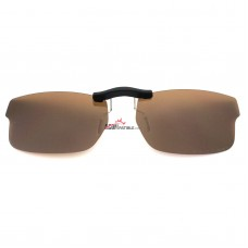 Custom Polarized Clip on Sunglasses For RayBan RB5245 (RX5245) 52x17 (Bronze Brown)