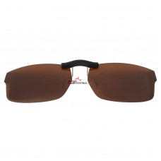 Custom Polarized Clip on Sunglasses For RayBan RB5245 (RX5245) 54x17 (Bronze Brown)