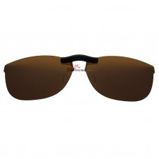 Custom Polarized Clip On Sunglasses For RayBan RB7024 (54mm) 54-16-145 54x16 (Bronze Brown)