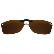 Custom Polarized Clip On Sunglasses For RayBan RB5228 (RX5228) 53-17-140 53x17 (Bronze Brown)