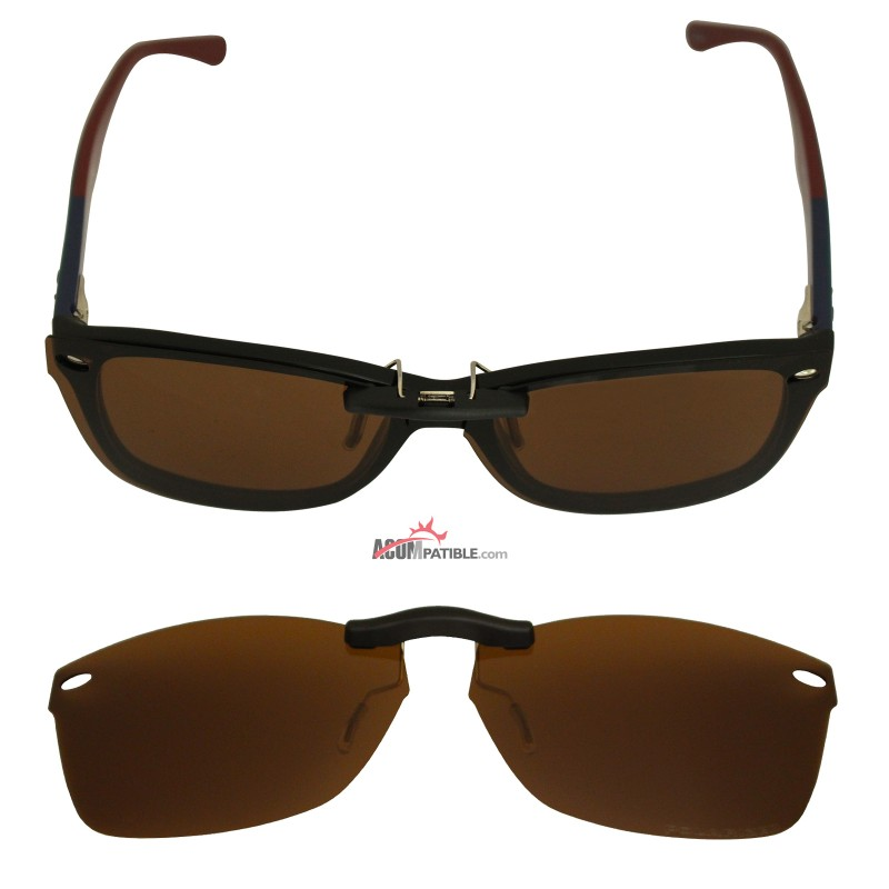 6509268164824 ... Custom Polarized Clip On Sunglasses For RayBan RB5228 (RX5228) 53-17-140