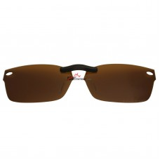 Custom Polarized Clip On Sunglasses For RayBan RB5206 (52mm) 52-18-140 52x18 (Bronze Brown)