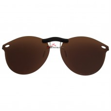 Custom Polarized  Clip On Sunglasses For RayBan RB2180V (49mm) 49-21-145 (Bronze Brown)