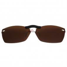 Custom Polarized Clip On Sunglasses For Ray-Ban RB5255 (53mm) 53-16-135 53x16 (Bronze Brown)