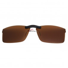 Custom Polarized Clip On Sunglasses For Ray-Ban RB8415 (53mm) 53-17-145 53x17 (Bronze Brown)