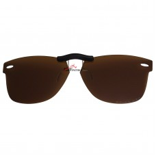 Custom Polarized Clip On Sunglasses For RayBan Wayfarer RB5121 (47mm) 47-22-145 47x22 (Bronze Brown)