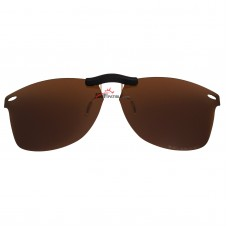 Custom Polarized Clip On Sunglasses For Ray-Ban RB7034 (52mm) 52-19-150 52x19 (Bronze Brown)