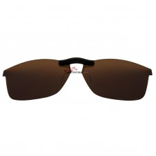Custom Polarized  Clip On Sunglasses For RayBan RB7047 (56mm) 56-17-145 (Bronze Brown)