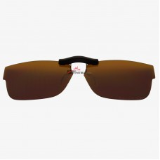 Custom Polarized Clip On Sunglasses For Ray-Ban RB5268 48-17-135 48x17 (Bronze Brown)