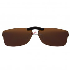 Custom Polarized Clip On Sunglasses For Ray-Ban RB5268 (50mm) 50-17-135  50x17 (Bronze Brown)