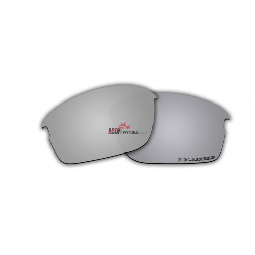Replacement Polarized Lenses for Oakley Bottle Rocket OO9164 (Silver Mirror)