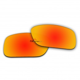 Replacement Polarized Lenses for Oakley Crankcase OO9165 (Fire Red Mirror)