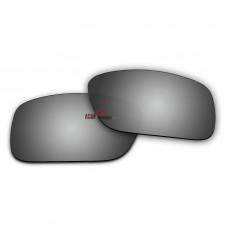 Replacement Polarized Lenses for Oakley Crankcase OO9165 (Silver Mirror)