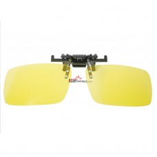 Polarized Clip on Unisex Rectangular lenses with 100% UV400 yellow Lenses