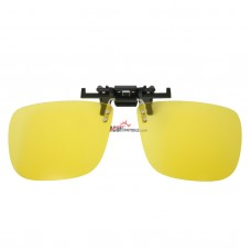 100% Polycarbonate UV400 Clip on Flip up Canary Yellow Enhancing Driving Polarized Glasses Lenses
