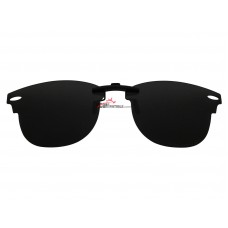 Custom Polarized Metal Clip on Sunglasses For RayBan CLUBMASTER RB5154 49x21 5154 (Black Color)