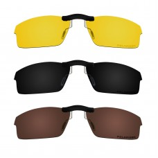 Custom Polarized  Clip On Sunglasses For Oakley CROSSLINK  OX8027 53x17 (Bronze Brown, Black,Yellow)