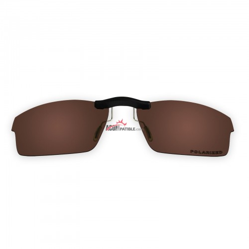 Custom Polarized  Clip On Sunglasses For Oakley CROSSLINK OX8027 53x17 (Bronze Brown)