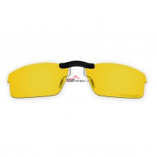 Custom Polarized  Clip On Sunglasses For Oakley CROSSLINK OX8027 53x17 (Yellow) - Night Vision