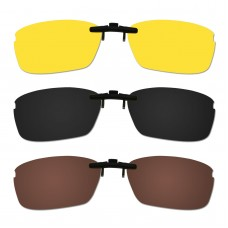 Custom Polarized Hook Up Sunglasses For Oakley WINGSPAN OX5040 5040 53x17 (Bronze Brown, Black,Yellow)