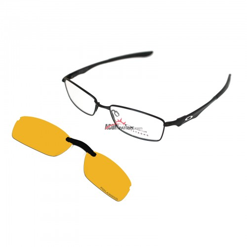 Custom Polarized  Clip On Sunglasses For Oakley WINGSPAN OX5040 5040 53x17 (Yellow) - Night Vision