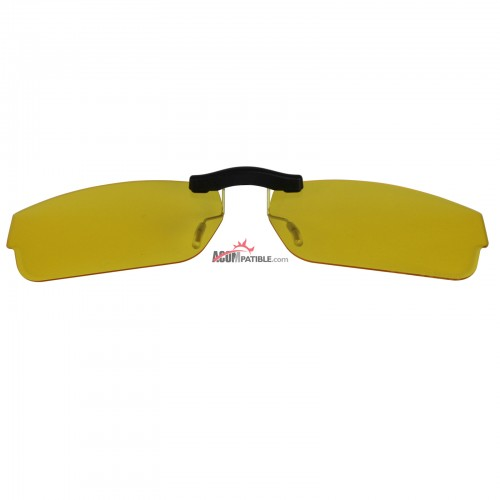 Custom Polarized Clip on Sunglasses For Oakley 1080 SERVO (55) OX1080 55x18 (Yellow) - Night Vision