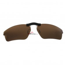 Custom Polarized  Clip On Sunglasses For Oakley CROSSLINK SWEEP OX8031 55x18 (Bronze Brown)