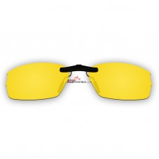 Custom Polarized Clip On Sunglasses For Oakley DOUBLE TAP OX3123 3123 53x18 (Yellow) - Night Vision