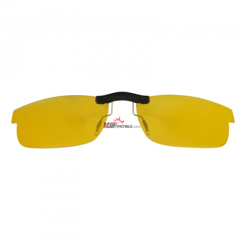 Custom Polarized Clip on Sunglasses For Oakley CARBON PLATE (55) OX5079 55x18 (Yellow) - Night Vision